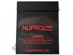 Nuprol Airsoft Lipo Life Safe Battery Case Li-Po Charging Pouch Flameproof in Black